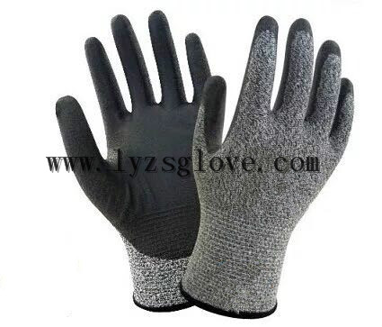 PU coated cut resistant gloves
