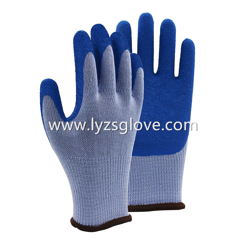 5 threads cotton latex coated gloves