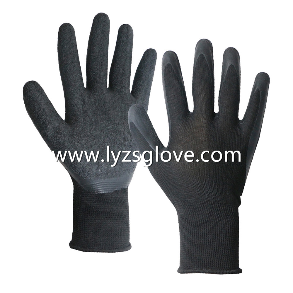 13gauge crinkle latex coated gloves