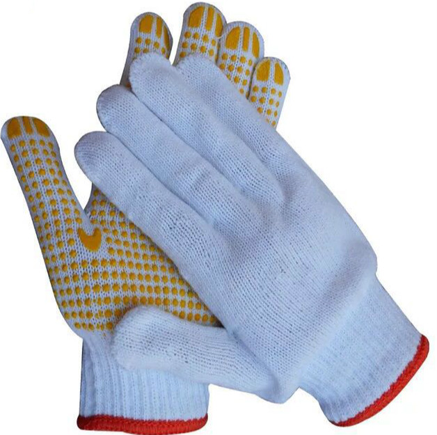 7 guage  PVC dotted gloves