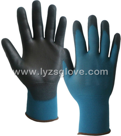 PU  coated polyester gloves