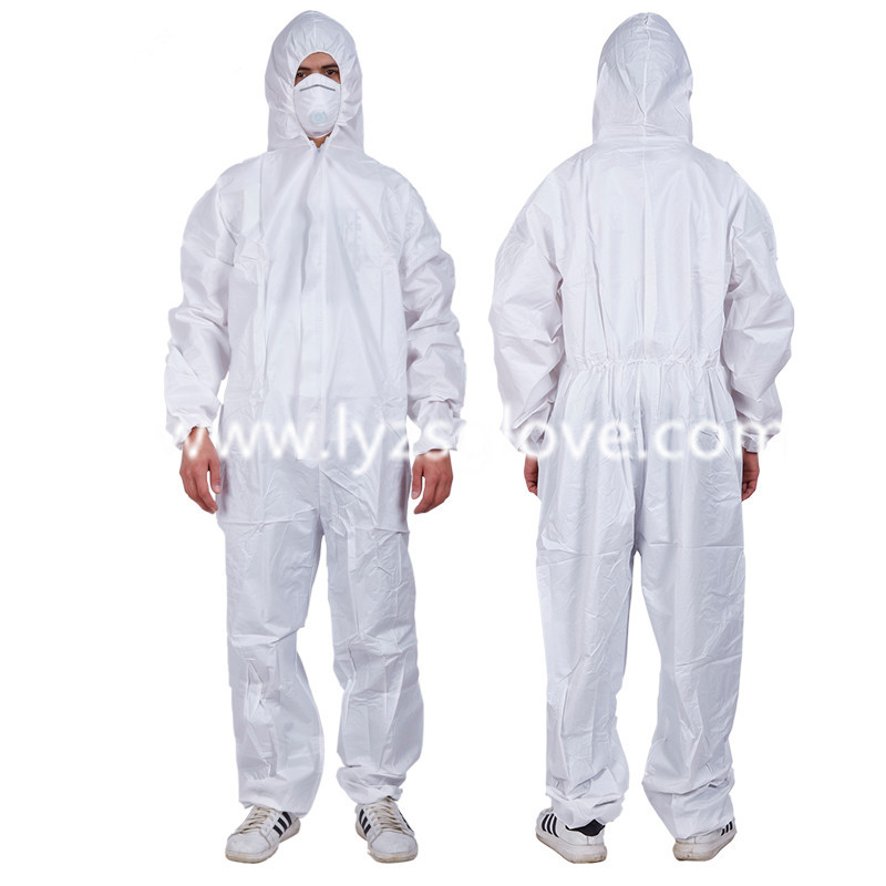 Custom unisex disposable non woven working safety coveralls