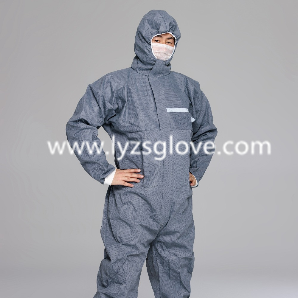 Waterproof PP White Disposable Coverall With Hood