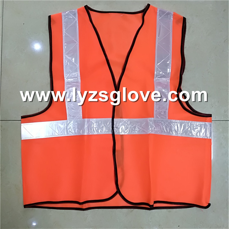 Mesh vest with V type reflective tape